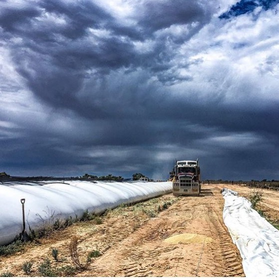 Check out those big clouds rolling in recently at Ivanhoe!hellip